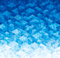 Panel SzklanyAbstract geometric blue texture background.
