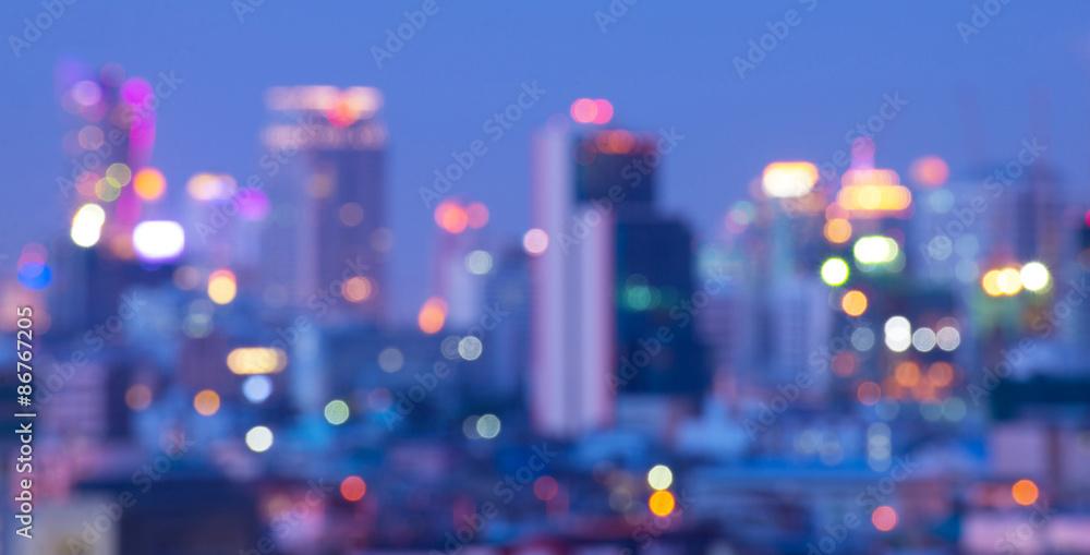 Fototapety, obrazy: Bangkok blurry abstract