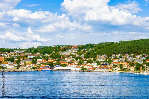 Photo  Panorama of the Norwegian village of the Olsofjord, Norway
