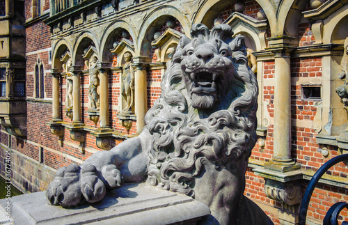 Photo Lion monument at the Frederiksborg Palace