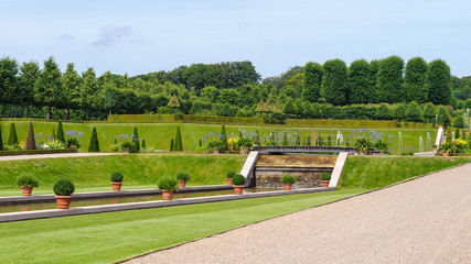 Fototapeta Beautiful garden around the Frederiksborg Castle, Hillerod, Denmark.