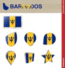 Barbados Flag Set, Flag Set #125