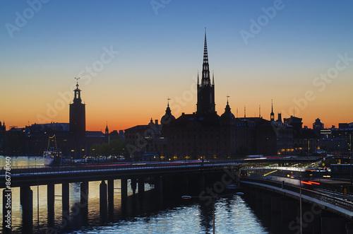 Photo  Stockholm sunset