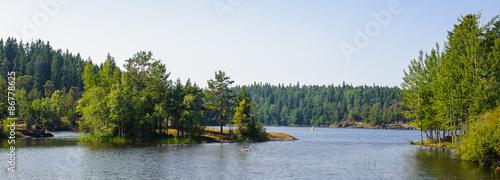 Fotografie, Obraz  Landscape of the Valaam (Valamo), an archipelago of Lake Ladoga,Republic of Karelia, Russian Federation