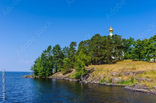 Valokuva  Nicholas island of the Valaam (Valamo), an archipelago of Lake Ladoga,Republic of Karelia, Russian Federation