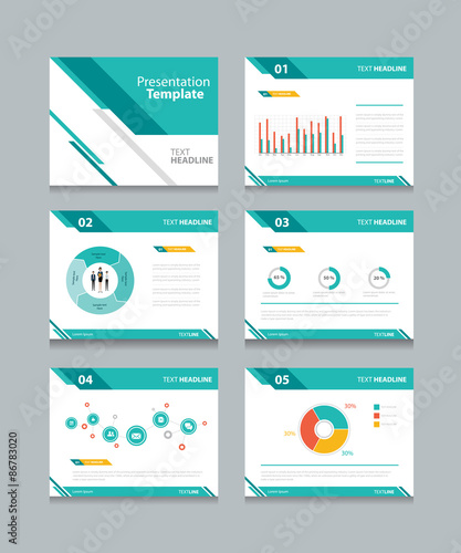 Business Presentation Template Set Powerpoint Template Design