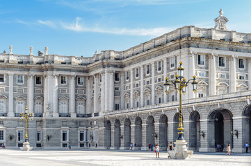 Fototapeta na wymiar Architecture of Madrid, the capital of Spain