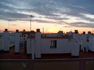 Séville sous le soleil couchant