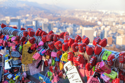 Tuinposter Seoel Namsan Tower in Seoul
