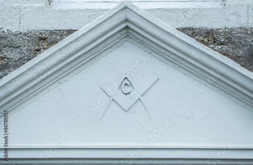 Fotografija  Masonic sign on wall