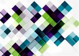 Square shape mosaic pattern design. Universal modern composition