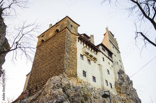 Fotografie, Obraz  Dracula hrad na vrcholu skály (Bran hrad), slavný hrad hraběte Vlad Tepes, Bran, Rumunsko