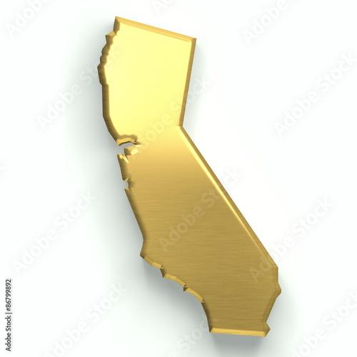 California golden map. 3D design