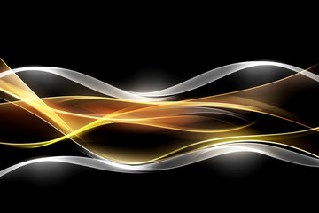 Panel Szklany Podświetlane Abstrakcja Creative Light Fractal Waves Art Abstract Background