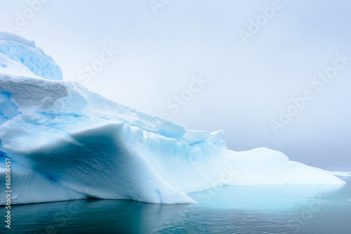 Printed kitchen splashbacks Antarctic Iceberg on the surface of the Atlantic Ocean in Antarctica