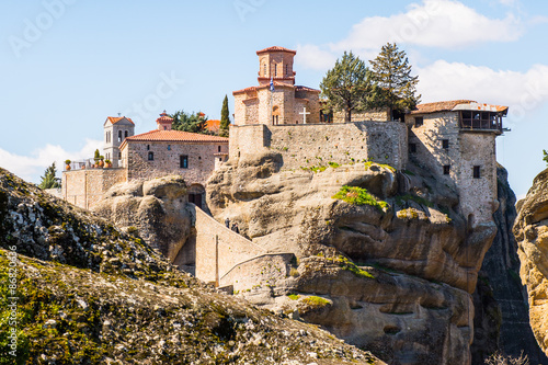 Fotografie, Obraz  Holy Monastery of Varlaam in Meteora mountains, Thessaly, Greece