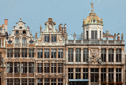Foto op Canvas Brussel Historical Buildings of Brussels Grand Place