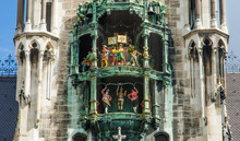 Glockenspiel In New Town Hall In Munich Germany