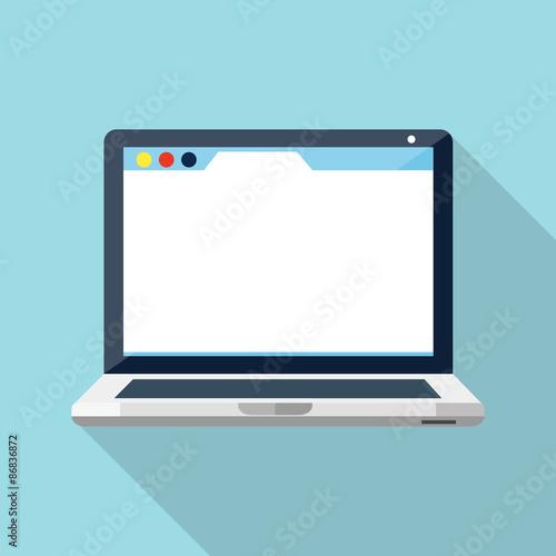 Fotografie, Obraz  Laptop flat icon
