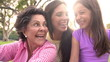 Slow Motion Shot Of Grandmother, Granddaughter And Mother