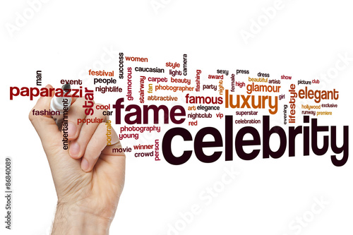 Fotografía  Celebrity word cloud