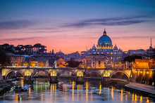 St. Peter's Cathedral At Night, Rome