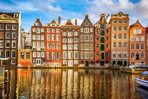 Poster Amsterdam Old buildings in Amsterdam