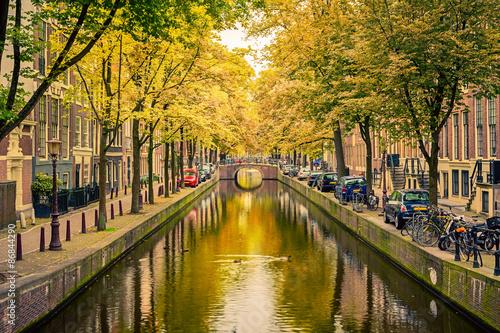 Ingelijste posters Amsterdam Canal in Amsterdam
