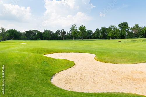 Deurstickers Golf Golf field