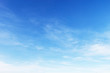 Leinwandbild Motiv Fantastic soft white clouds against blue sky
