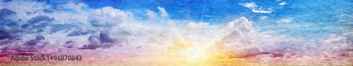 panoramiczna-fotografia-kolorowego-nieba