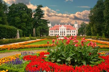 Garden in the French Baroque style. Kozlowka, Poland.