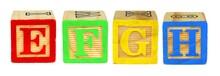 E F G H Wooden Toy Letter Bloc...