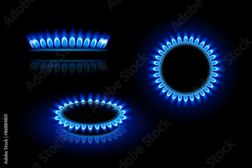 Fotografie, Obraz  gas flame
