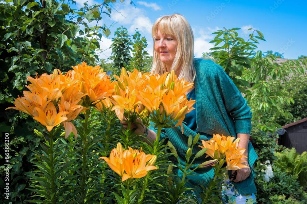 Photo Art Print Wunderschöne Lilien Im Garten Europosters