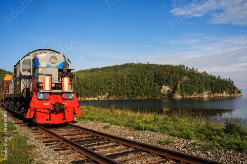 Poster Voies ferrées Zug am Baikalsee