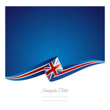New Abstract UK Flag Ribbon