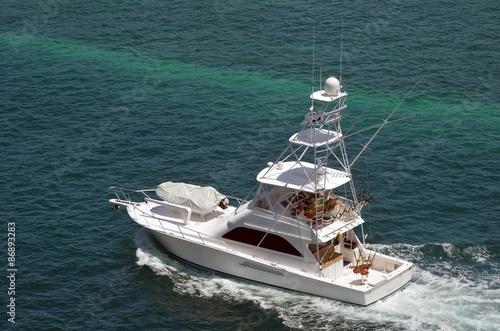 Printed kitchen splashbacks Canary Islands Sport Fishing Boat Cruising in the Bahamas