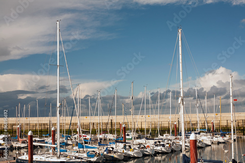 Fotografía Boats in Greystones marina harbor