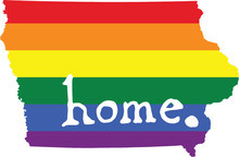Iowa Gay Pride Vector State Sign