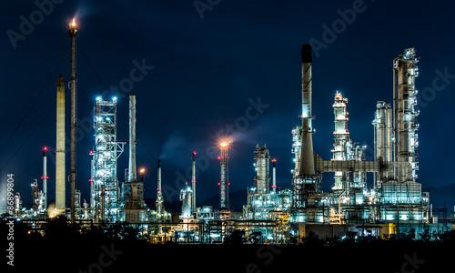 Fototapeta Oil refinery at night obraz