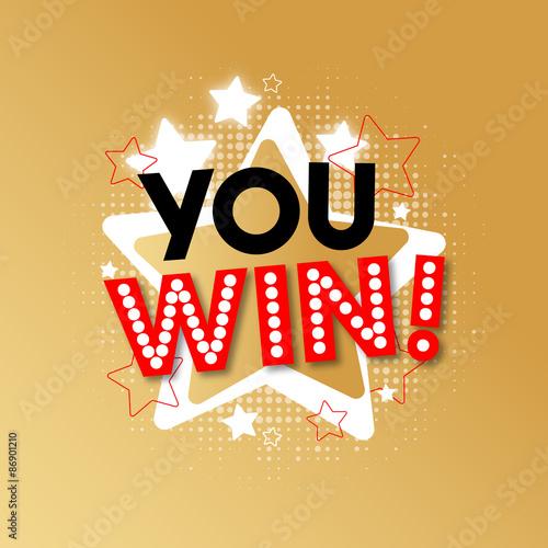 Photo  You win