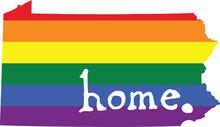 Pennsylvania Gay Pride Vector State Sign