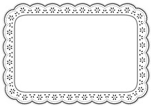 Place Mat, Eyelet Lace Embroid...