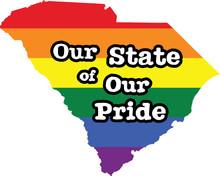 South Carolina Gay Pride Vector State Sign