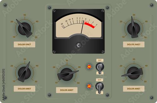 Editable vector illustration of analog control panel