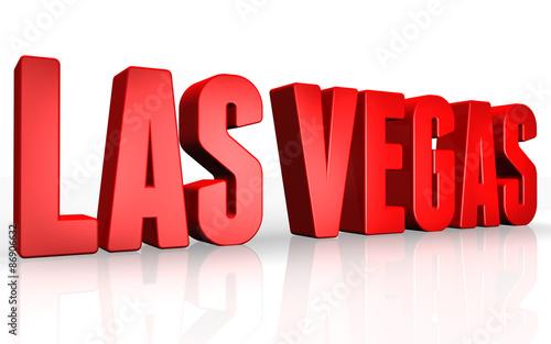 Photo  3D Las Vegas text on white background