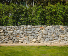 Decorative Fence Real Stone Wall Surface
