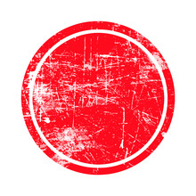 Red Circle Grunge Stamp With B...