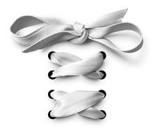 White Shoe Lace Ribbon
